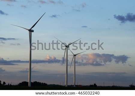 Windmill farm at dawn 2