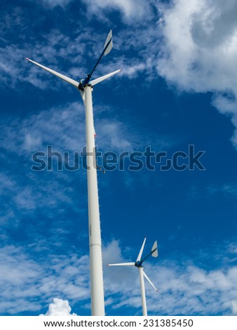 Windmill farm for alternative clean energy