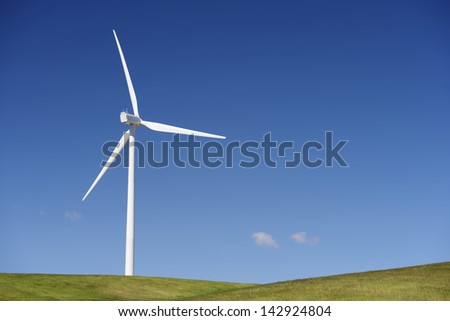windmill for  electric power production - stock photo