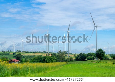 Windmill for electric power production in wind-farm.