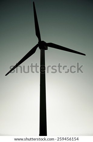 Windmill for electric power production, La Muela, Zaragoza Province, Aragon, Spain.