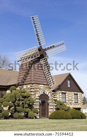 Windmill house - suburbs of Chicago