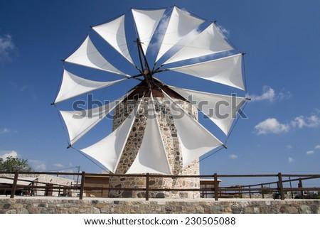 Windmill in Antimahia, Kos; Greece  - stock photo