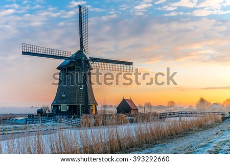 Windmill in the morning sun