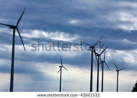 Windmill in the wind power for alternative energy