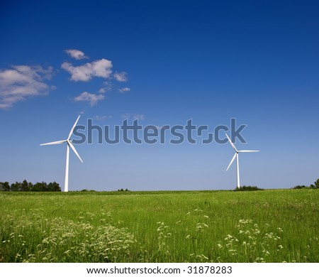 Windmill - modern alternative energy