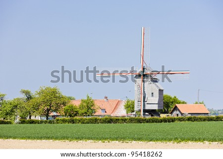 windmill near Wormhout, Nord-Pas-de-Calais, France