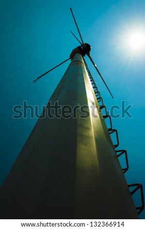 windmill on daylight - stock photo