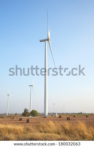 windmills for electric clean power production