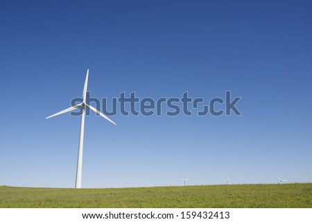 windmills for  electric power production, Gurrea de Gallego, Huesca, Aragon, Spain