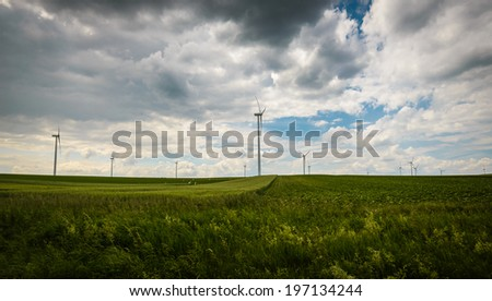 Windmills for electric power production,Lower Austria,