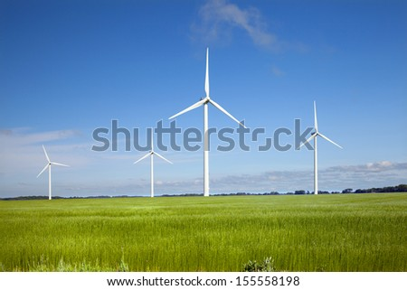 Windmills in north France, Normandy