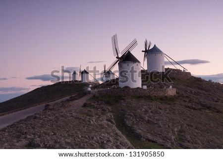 Windmills of La Mancha Spain - stock photo