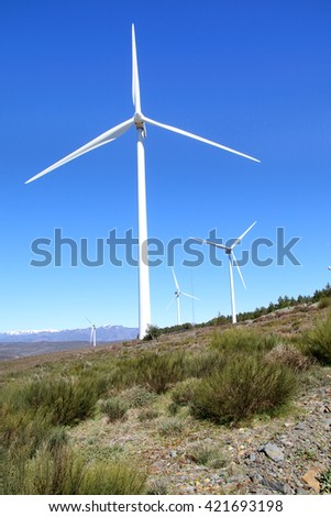 Windmills up in the mountain.