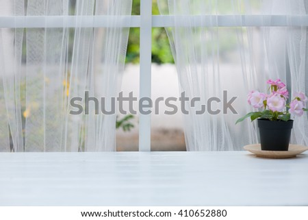 Window and wooden with summer window background