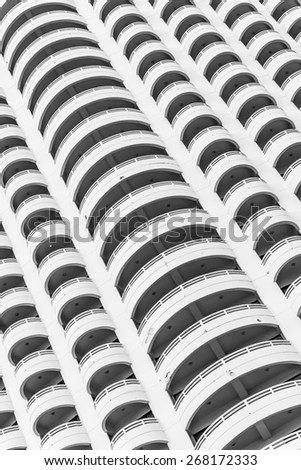Window building textures background - black and white style