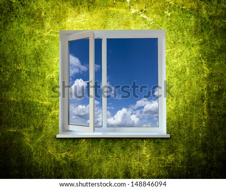 Window close up for background