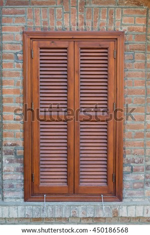 Window Closed Wooden Exterior Shutters Stock Photo 450186568 ...