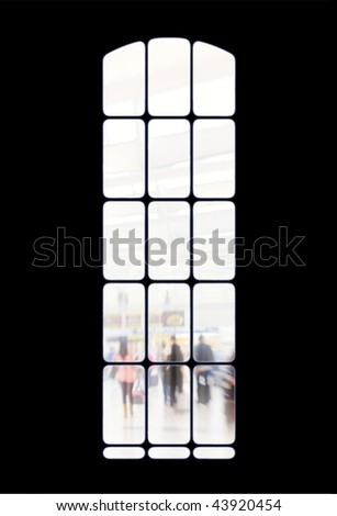 Window - dark and light. Useful as background - stock photo
