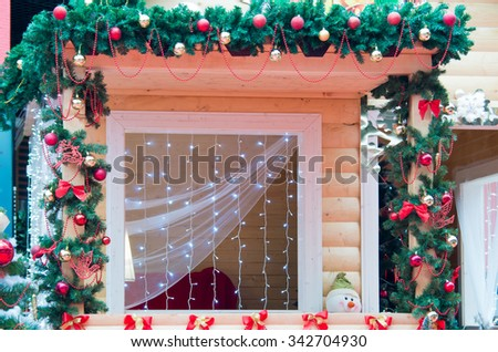 In christmas style christmas garlands ribbons bows christmas