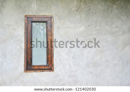 window design for wood - stock photo