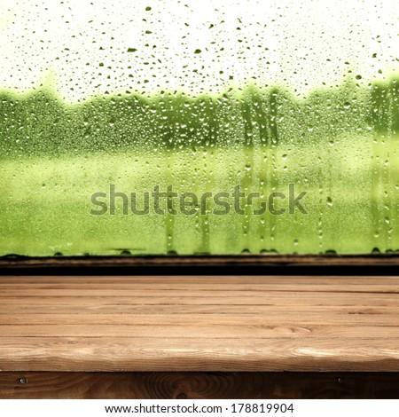 window glass  - stock photo