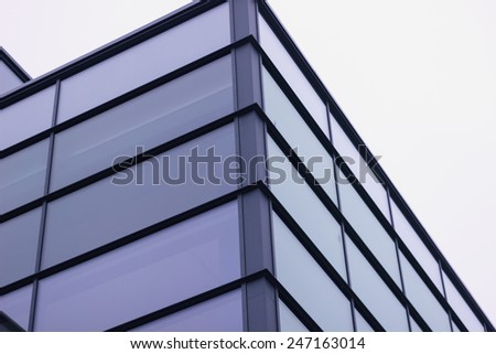 window glass on building modern office architecture  - stock photo