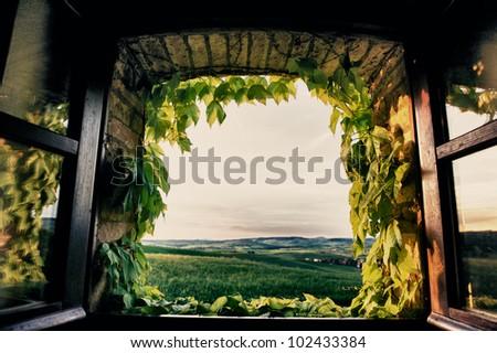 window hdr - stock photo