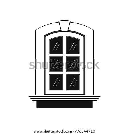 Window icon.  Illustration