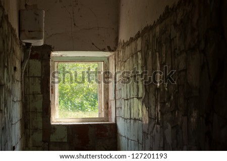 window in a ruin