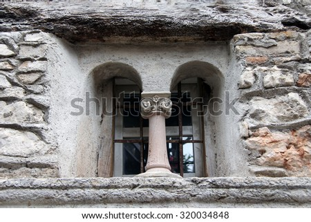 Window in an ancient castle