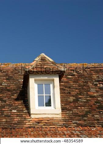 window in attic garret loft and blue sky & Window Attic Garret Loft Blue Sky Stock Photo u0026 Image (Royalty-Free ...