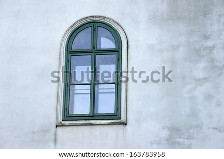 Window in Marianka monastery - the oldest pilgrimage site in Slovakia