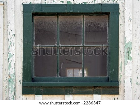 Window in Old Building - stock photo