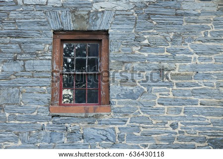 Window in old stone wall