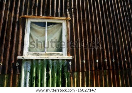 Window in Rust - stock photo