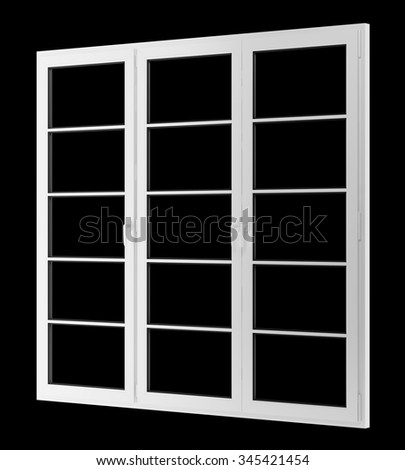 window isolated on black background