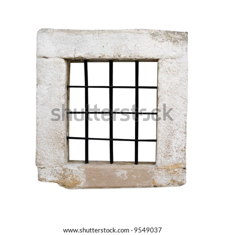 Window of an ancient prison cell - stock photo