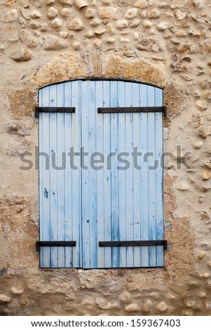 Window of traditional house in Valensole, Provence, France