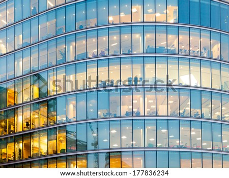 window office building for background  - stock photo