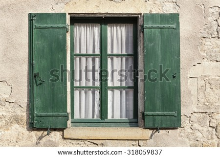 Window on a residential home in France