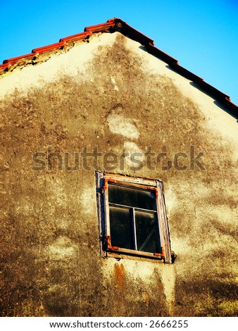 Window on old house