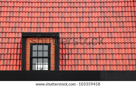 Window on the roof texture background - stock photo