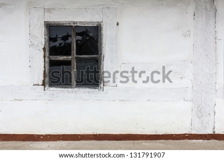 window on the village wall