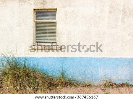 Window on white wall