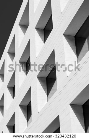 Window pattern. Detail of contemporary facade. - stock photo