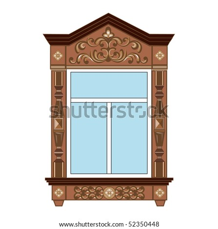 Window platband (you can find the same vector illustration in my portfolio)