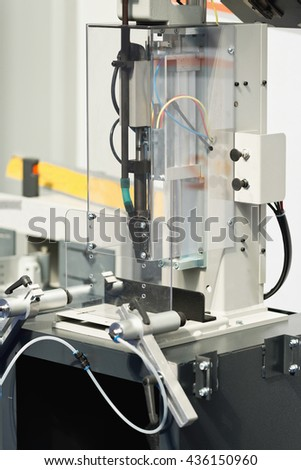 Window profile processing machine