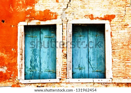 Window shutter - stock photo