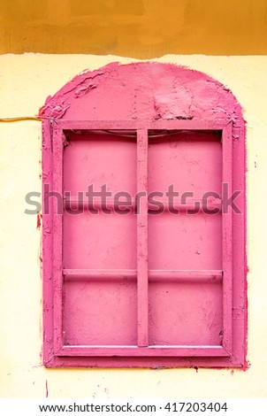 Window shutters closed - stock photo